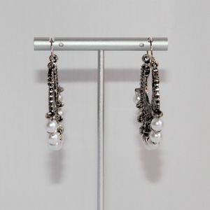 Jewelry - Bali Style Silver and Antiqued Filigree Earrings